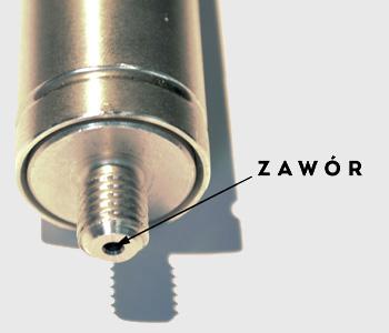 Napełnianie sprężyn gazowych azotem